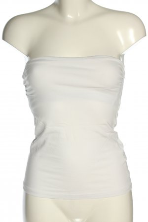H&M Basic Bandeau Top white casual look