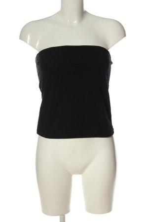 H&M Basic Haut bandeau noir style décontracté