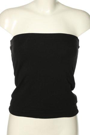 H&M Basic Top z dekoltem typu bandeau czarny W stylu casual
