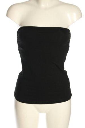 H&M Basic Haut bandeau noir élégant