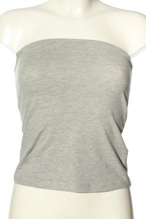 H&M Basic Haut bandeau gris clair moucheté style décontracté