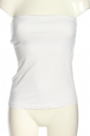 H&M Basic Bandeau top wit casual uitstraling