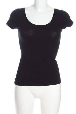 H&M Basic Basic-Shirt schwarz Casual-Look