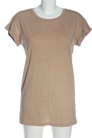 H&M Basic Basic-Shirt nude meliert Casual-Look