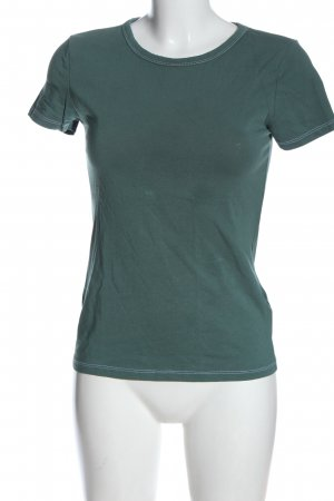 H&M Basic Basic-Shirt grün Casual-Look