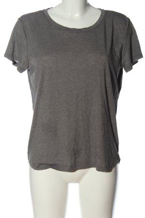 H&M Basic Basic-Shirt hellgrau meliert Casual-Look
