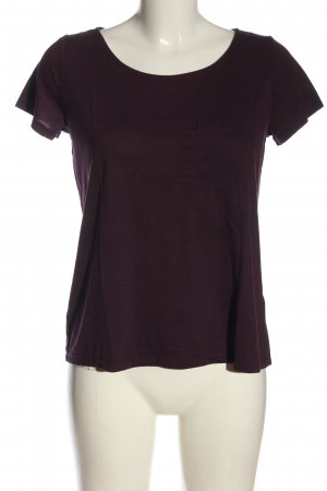 H&M Basic Basic-Shirt lila Casual-Look