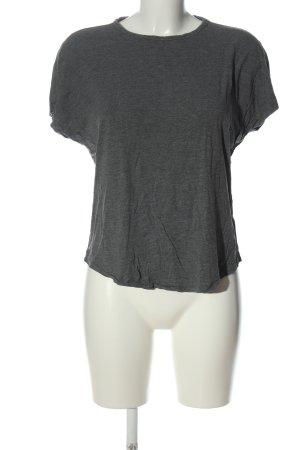 H&M Basic Basic-Shirt hellgrau Casual-Look