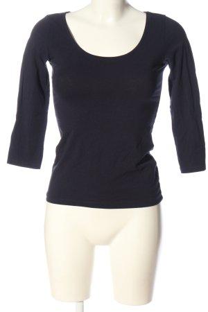 H&M Basic Basic-Shirt blau Casual-Look
