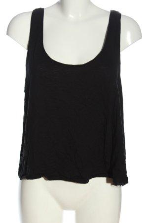 H&M Basic Basic Top schwarz Casual-Look