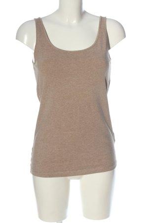 H&M Basic Basic Top braun meliert Casual-Look