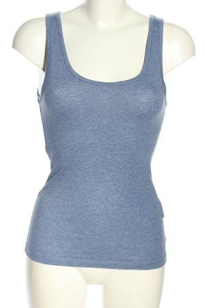 H&M Basic Basic Top blau meliert Casual-Look