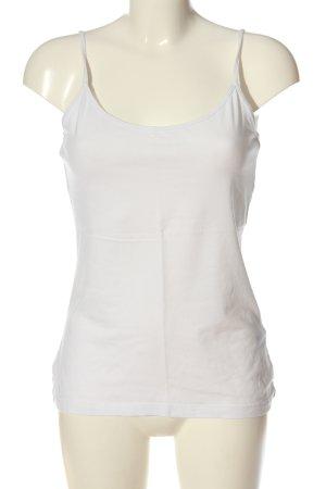 H&M Basic Basic Top weiß Elegant