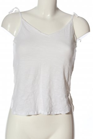 H&M Basic Top básico blanco look casual