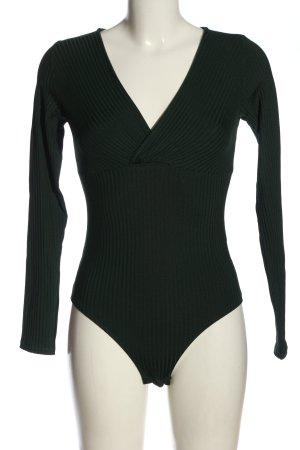 H&M Basic-Body schwarz Streifenmuster Elegant