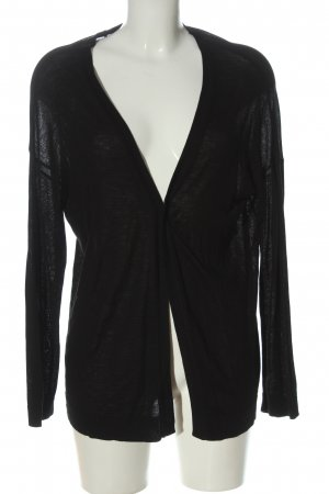 H&M Basic Cardigan schwarz Casual-Look