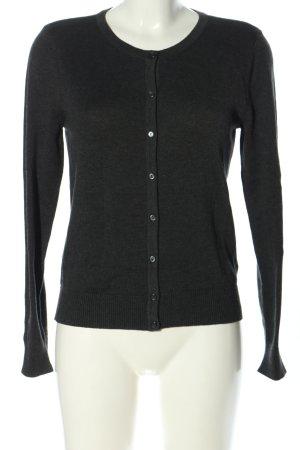H&M Basic Cardigan schwarz meliert Casual-Look