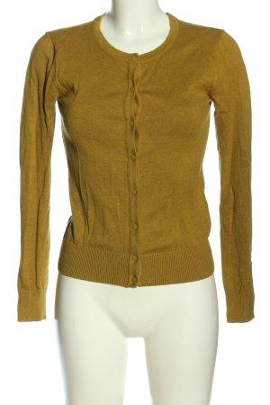 H&M Basic Cardigan blassgelb Casual-Look