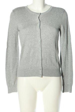 H&M Basic Cardigan hellgrau meliert Casual-Look