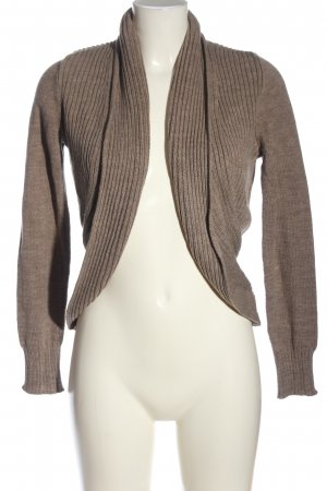 H&M Basic Cardigan braun meliert Casual-Look