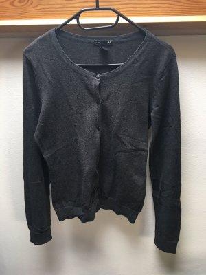 H&M Basic Cardigan dunkelgrau Größe M