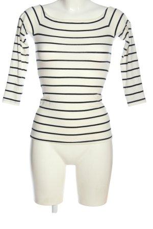 H&M Basic Carmen Shirt white-black striped pattern casual look