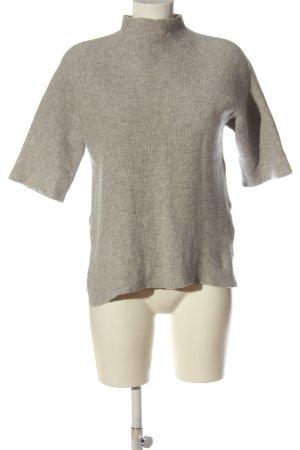 H&M Basic Kaszmirowy sweter jasnoszary Melanżowy W stylu casual