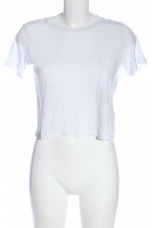 H&M Basic Cropped Top white casual look