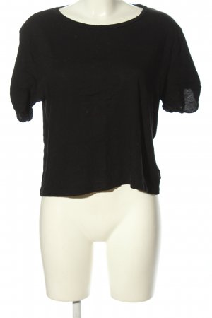 H&M Basic Cropped top zwart casual uitstraling