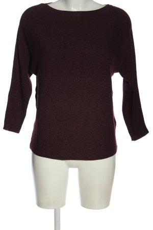 H&M Basic Feinstrickpullover lila meliert Casual-Look