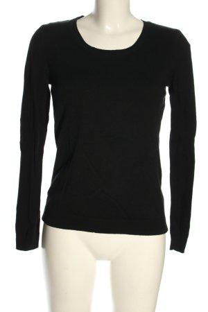 H&M Basic Feinstrickpullover schwarz Casual-Look
