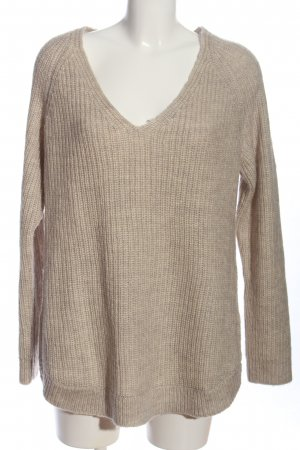 H&M Basic Grobstrickpullover hellgrau Zopfmuster Casual-Look