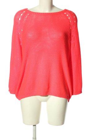 H&M Basic Pull à gosses mailles rose style décontracté