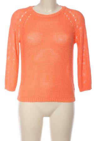 H&M Basic Szydełkowany sweter jasny pomarańczowy W stylu casual