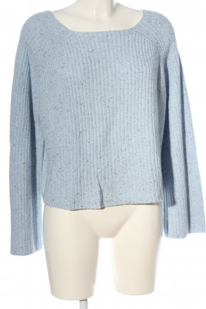 H&M Basic Crochet Sweater blue casual look