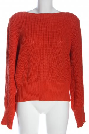 H&M Basic Crochet Sweater red cable stitch casual look