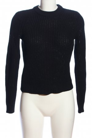 H&M Basic Crochet Sweater blue cable stitch casual look