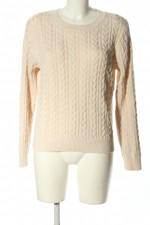 H&M Basic Crochet Sweater cream cable stitch casual look
