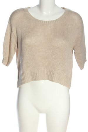 H&M Basic Häkelshirt creme Casual-Look
