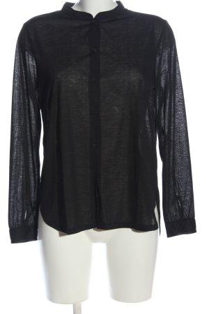 H&M Basic Hemd-Bluse schwarz Casual-Look