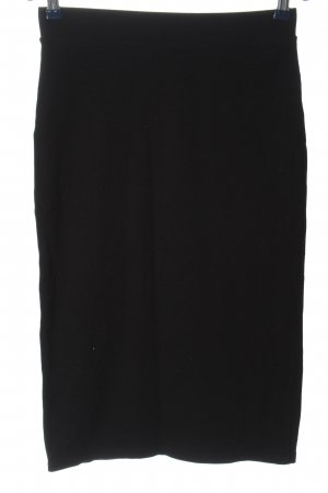 H&M Basic High Waist Skirt black casual look