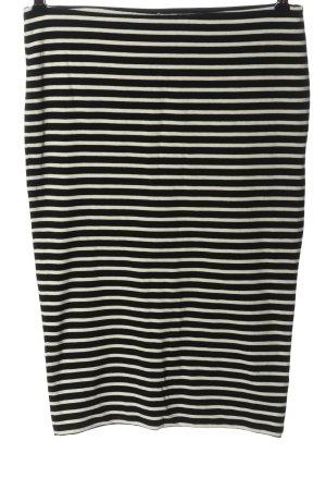 H&M Basic High Waist Rock schwarz-weiß Allover-Druck Casual-Look