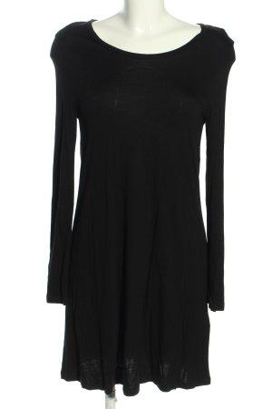 H&M Basic Jerseykleid schwarz Casual-Look