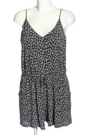 H&M Basic Jumpsuit schwarz-weiß Allover-Druck Casual-Look