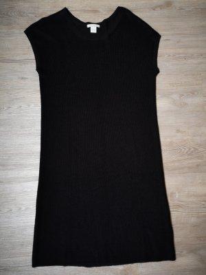 H&M basic Kleid Strickkleid S Wollkleid Schwarz