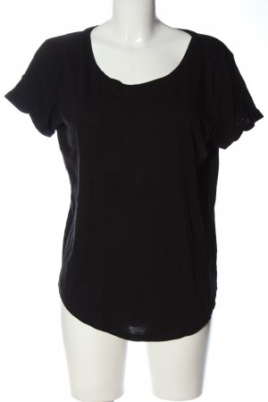 H&M Basic Kurzarm-Bluse schwarz Casual-Look