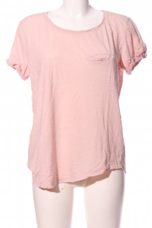 H&M Basic Kurzarm-Bluse pink Casual-Look