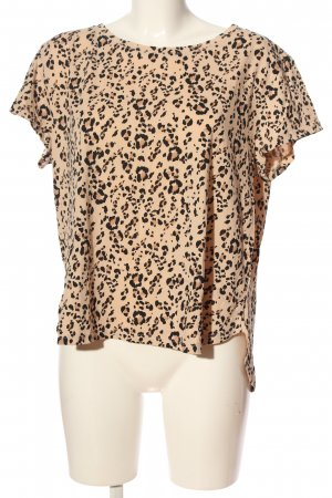 H&M Basic Kurzarm-Bluse Leomuster Casual-Look