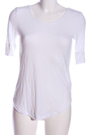 H&M Basic Kurzarm-Bluse weiß Casual-Look