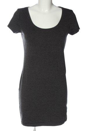 H&M Basic Kurzarmkleid schwarz Casual-Look